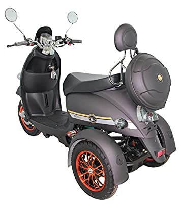 GreenPower 3 Wheeled Electric Mobility Scooter / BZ500 (Black)