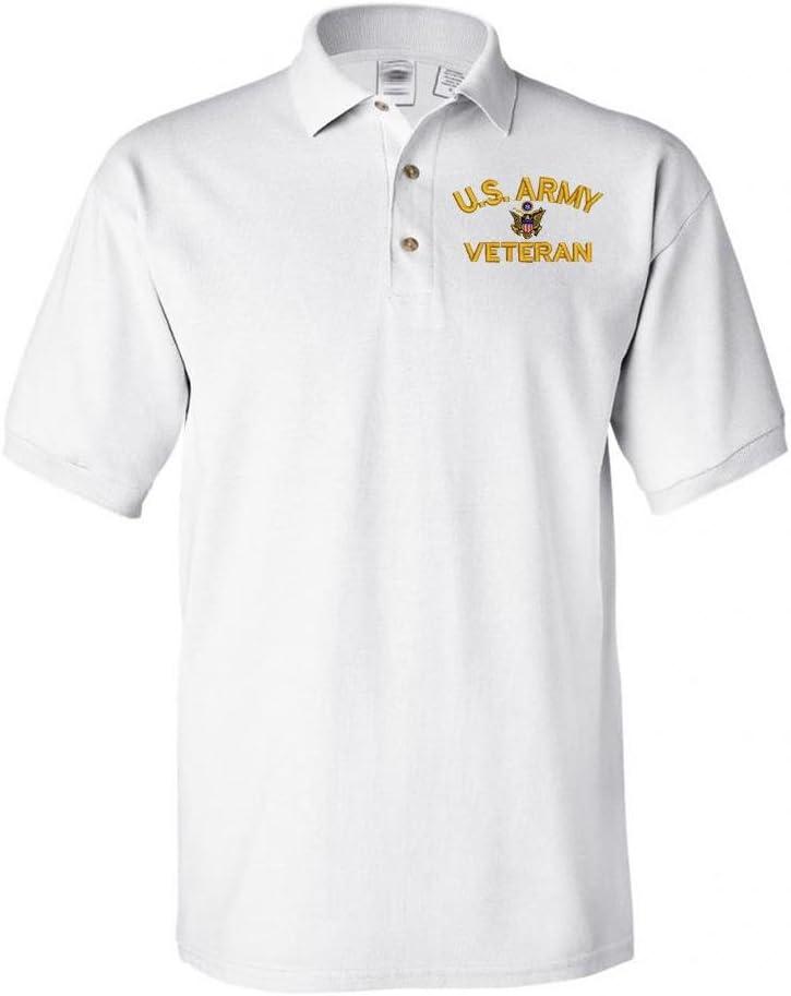 MILITARY Army U.S. Veteran Shirt Columbus Mall Polo Recommendation White
