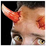 Fancy Me 3D Realistic Gore Special FX Wound Halloween Horror Stage Make Up Glue and Latex Free Prosthetic Transfers (Devil Horns)