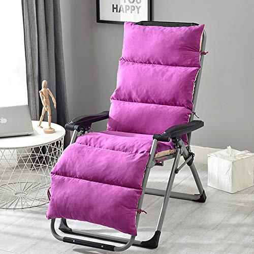 Chaise longue coussin, tissu de suède amovible Garden Chaise inclinable vapeur épaississement de 12cm Pad Patio Jardin Naturel 50 * 20 * 5 pouces, 61 * 20 * 5 pouces, 69 * 20 * 5 pouces,5,175*50*12