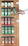 Spice Rack 36 Spice Gripper- Spice Racks Strips Cabinet Cabinet Door - Use Spice Clips for...