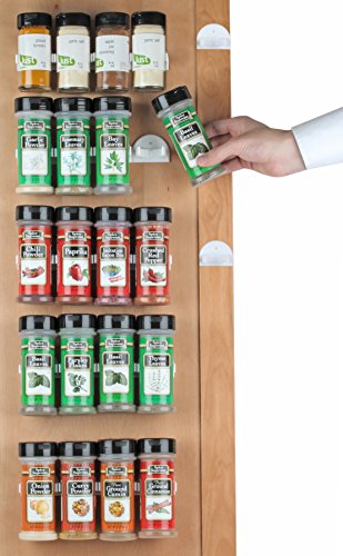 Spice Rack 36 Spice Gripper Spice Racks Strips Cabinet Cabinet Door  Use Spice Clips for Spice Organizer  Stick or Screw Spice Storage Spice Clips