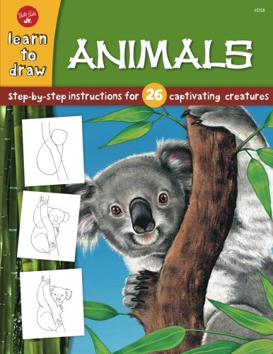 Animals: Step-by-step instructions for 26 captivating creatures (Learn to Draw)
