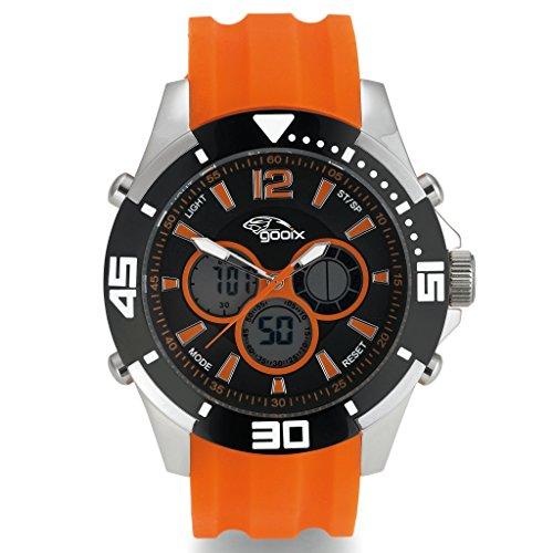 gooix GX07005040 Herren-Armbanduhr Kautschuk orange