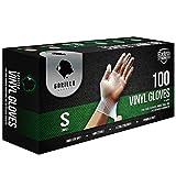 Gorilla Supply Heavy Duty Vinyl Gloves Small Box of 100 Powder Free 4mil Disposable