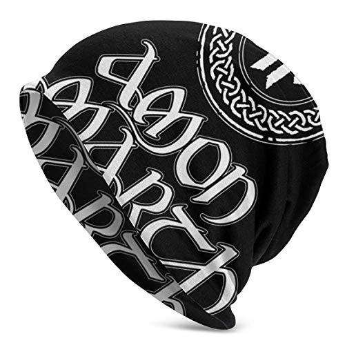 TYHYT Adult Herren Warm & Soft Hat Pullover Cap Amon Amarth Fashion Strickmütze für Herren & Damen Schwarz