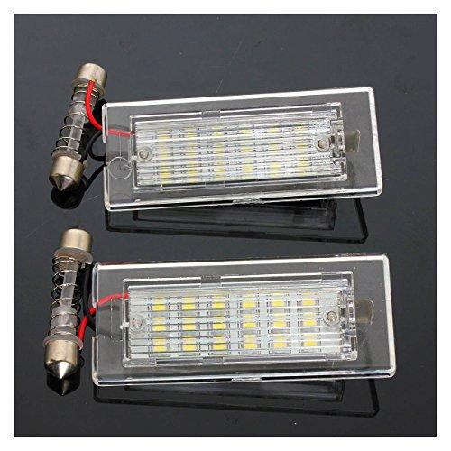 REFURBISHHOUSE Une Paire Erreur OBD Disponible LED Lumieres Lampe a Plaque d'immatriculation pour BMW X5 E53 X3 E83 03-10