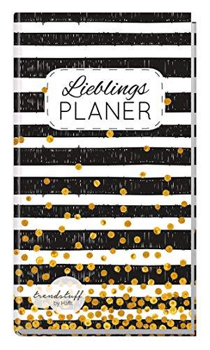 Trendstuff Lieblingsplaner - Notizbuch A6 liniert [Black & White] 1 Woche auf 2 Seiten   Mini Notizkalender, Wochenplaner, Taschenkalender ohne festes Datum