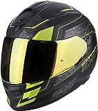 Scorpion Casco moto EXO-510 AIR Galva Opaco Nero-Neon Giallo XL
