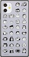 【カラー:みんな】iPhone11 iPhoneXR ピーナッツ 耐衝撃 スクエア ガラス ケース カバー ハイブリッド ソフト ソフトケース ハードケース キャラクター スヌーピー チャーリー ジョークール グッズ 6.1 iphone 11 xr アイフォン イレブン テンアール スマホカバー スマホケース s-gd-7d345