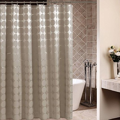 Comfysail 100prozent Polyester Duschvorhang Wasserabweisender Anti Schimmel Waschbar Anthrazit mit 12 Duschvorhangringe Für Badezimmer