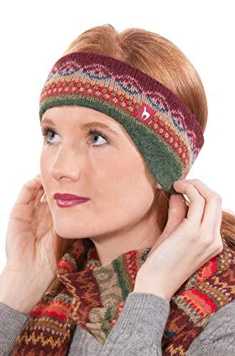 APU KUNTUR Stirnband LUNA aus 100% Baby Alpaka Jacquard Strick one-size