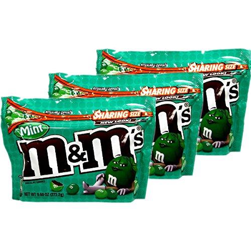 アメリカン チョコレート M & M (ミント)3袋 [並行輸入品]
