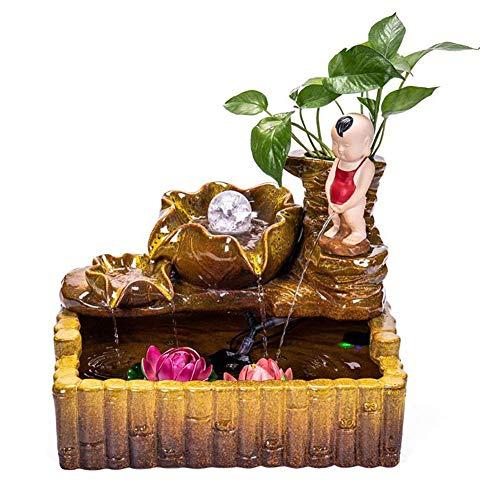 Fontaine d'eau d'intérieur de nénuphar, Fontaine d'eau de Table de Cascade avec Le Bruit apaisant pour la Chambre de Salon de Jardin