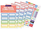 Essentials Habit Tracker Planner Stickers (52 weeks of stickers)