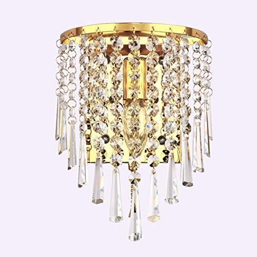 E14 Lámparas De Pared Led Aplique De Pared De Cristal Ac85-265V Lustres Al Lado De Lámparas Para Dormitorio Baño Las Luces De Pared Decoran M Gold