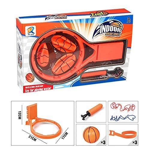 xlcukx Kids Shower Toys Set Bad Basketball Stand 3Plastic Basketballs Badewanne Shooting Water Spielen Happy Game Pool Safe (Zwei Stile, jeder Stil hat nur 3 Bälle) Sale2019