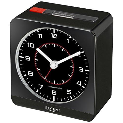 Regent 44-860-7 Primus Funk Wecker Funkwecker Kunststoff Analog Licht Alarm schwarz
