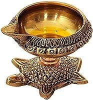 BrassLine Brass Diya (3 x 2 inch, Gold)