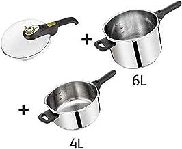Tefal 6 Liter + 4 Liter Secure 5 Pressure CookerCombo Set