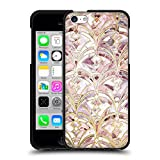 Head Case Designs Licenciado Oficialmente Micklyn Le Feuvre Patrón de marmolado Art Deco con Rosas polvorientas y Coral Patrones de mármol Funda de Gel Negro Compatible con Apple iPhone 5c