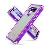 Fcclss Cell Phone Case for LG Stylo 6, LG Stylo 6 Case Dual Layer Heavy Duty Hybrid Crystal Clear Case, LG Stylo 6 Case Shockproof Protective Case for Women Men Girls, Purple