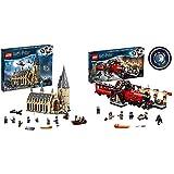 LEGO 75954 Harry Potter Gran Comedor de Hogwarts - Juguete de Construcción, con Minifiguras de Harry Potter + Harry Potter - Hogwarts Express, Tren de Juguete y Andén 9 y 3/4 (75955)