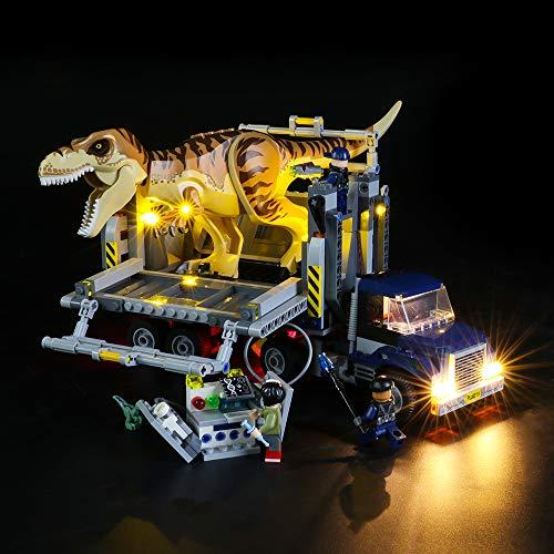 BRIKSMAX Kit de Iluminación Led para Lego Jurassic World Transporte del T Rex,Compatible con Ladrillos de Construcción Lego Modelo 75933, Juego de Legos no Incluido
