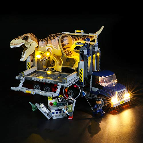 BRIKSMAX Kit di Illuminazione a LED per Lego Jurassic World T. Rex Transport,Compatibile con Il Modello Lego 75933 Mattoncini da Costruzioni - Non Include Il Set Lego.