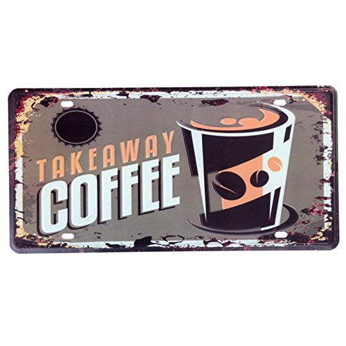 Koffie Tin Teken Cafe Bar Pub Up Kuifje Borden Stickers Metalen Kentekenplaat Poster Schilderij Garage Wall Decor 30X15cm, V