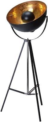 La chaise longue 30-Y2-001 LAMPADAIRE CINEMA, Métal, Noir/Doré, 66 x 60 x H164