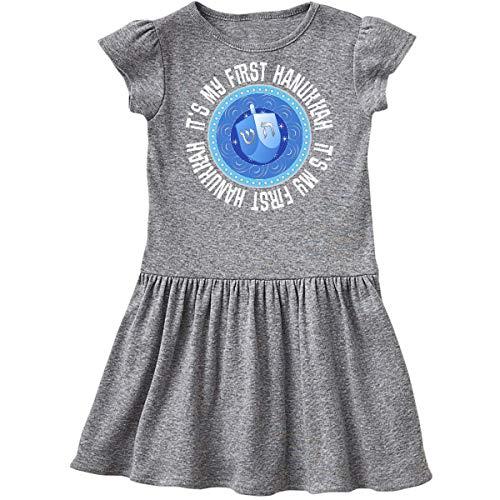 inktastic Its My 1st Hanukkah Dreidel Infant Dress 12 Months Heather Grey 39542