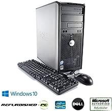 Dell Optiplex 760 Fast Desktop Computer Tower Intel Core 2 Duo 3.0GHz Processor, 500GB HDD, 8GB RAM, USB WIFI, Windows 10 Pro 64 Bit