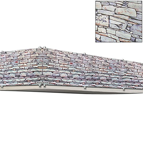 Deuba Windschutz 5m | UV-Schutz 50+ | wasserabweisend | Sichtschutz Balkonbespannung Balkonsichtschutz | einfache Montage | waschbar | 500cm x 90 cm Steinoptik