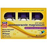Rite Aid Acid Reducer Esomeprazole Magnesium, 20 mg - 14 Tablets, 3 Pack, 42 Count Total | Heartburn Relief
