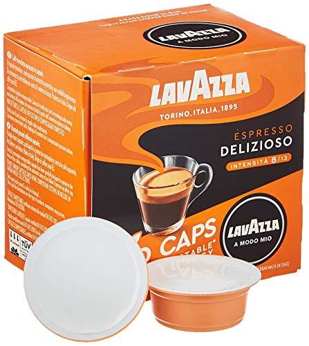 Lavazza 16 A Modo Mio Eco Caps Kapseln, kompostierbar, Kaffee Espresso Delizioso, 1 x 16er Pack (120 g)