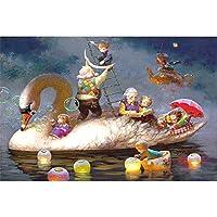木製 1000ピース ジグソーパズル 子供の教育玩具 大きなパズル アダルト 漫画/景色/風景 高難易度 壁の装飾 デジタル絵画 減圧 家族の集い