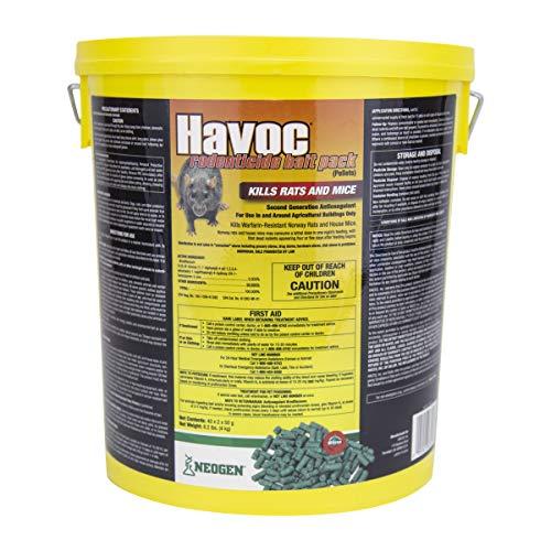 Neogen Havoc Rodenticide Rat & Mouse Bait Pellet Pack, 8 lb.Pail