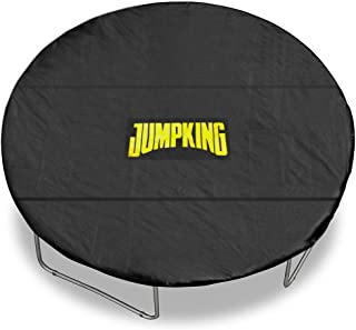 Lightweight Trampoline Cover, Black Trampoline Weather Cover Protection from Sun, Wind, Leaves, Snow, Ice - with Adjustable Straps, Reinforced Stitching, Leg Notches