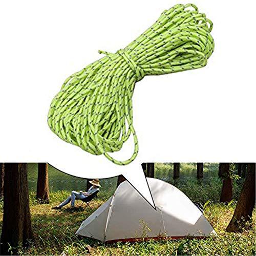 VIONNPPT 50M Corde réfléchissante pour Camping, Tente, Tente, etc, 2,5mm