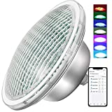 CXhome Luces Sumergibles Piscina 12-24V RGB PAR56 Iluminacion Piscina Luz LED Impermeable 234 Chips LED IP68 Bluetooth APP Control a Prueba de Agua 32 Efectos de Luz para Piscinas