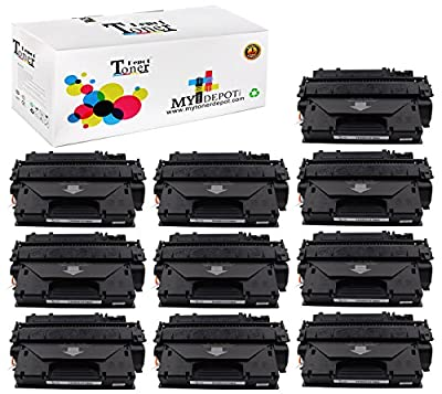 1 PACK/2 PACK/4 PACK/10 PACK 10 PACK TonerDepot NEW Compatible with HP CE505X Toner Cartridge Multi-Fit Black Ink Box for HP and Canon Printers Series