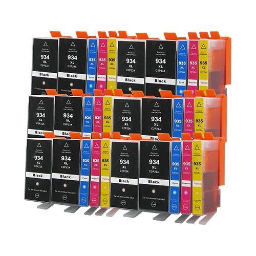30 Bubprint Druckerpatronen kompatibel für HP 934XL 935XL für OfficeJet Pro 6200 6230 6235 6239 6800 6812 6815 6820 6822 6825 6830 6835 Schwarz Cyan Magenta Gelb Multipack