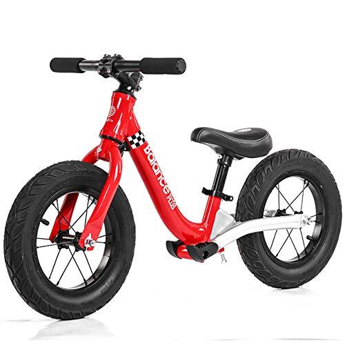 JW-YZWJ Kinder Damping Gleichgewicht Auto, Rutschen Fahrrad Kleinkind Aluminium kein Pedal-Zyklus für 2-7 Jahre alt