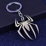 MWBLN Porte-clés Porte-clés,Porte-clés Avengers 4 Spiderman, pièces d'auto de Mode Spider-Man, pour Hommes et Femmes Cadeaux AntiqueBronze