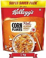 Kellogg's Corn Flakes Real Almond Honey | Breakfast Cereals | High in Vitamin B1, B2, B3, B6 & C| High in Iron |...