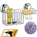 MaxHold Saugschraube Duschkorb Multifunktional, Befestigen ohne Bohren  Edelstahl rostfrei  Kchen & Badezimmer Aufbewahrung