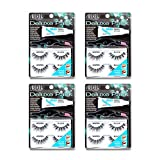 Ardell False Eyelashes Deluxe Pack Kit Wispies Black 4 Pack