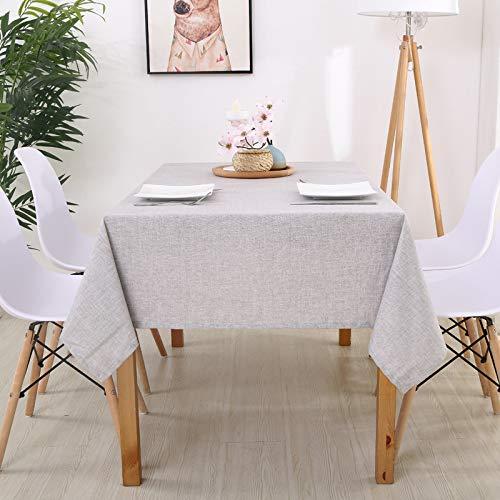DJUX Sencillo y Moderno algodón y Lino Color Liso Rectangular Color sólido Mantel Anti-escaldado Mantel Impermeable Tela Mantel Individual 110 * 110 cm