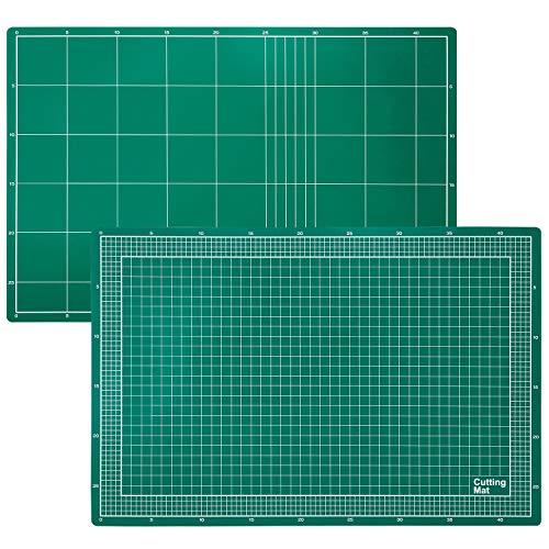 Amazon Basics Estera de corte de PVC de 3 capas, verde, 45x30cm